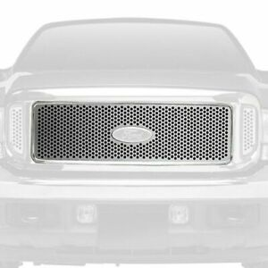 Putco Main Grille 3-Pc Polished Round Punch CNC Fits Ford F-250 Super Duty