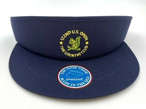 2022 US Open The Country Club at Brookline Imperial Navy Golf Tour Visor NEW