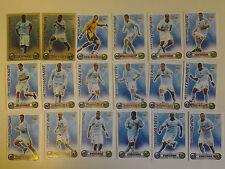 Set of 18 x Match Attax Cards 2008 - 2009 Manchester City incls 2 Star Players