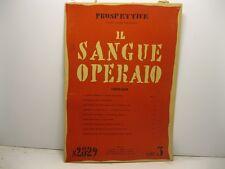 AA.VV., Prospettive. Direttore Curzio Malaparte. Il sangue operaio. N. 28-29....
