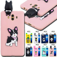 For Huawei Rubber Soft 3D Skin Cute Case Cover TPU Pattern Clear Protective Back