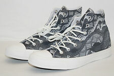CONVERSE CHUCKS ALL STAR HIGH Gr.38 UK 5,5 REPTILE PRINT dunkelgrau weiss 547253