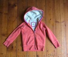 Mini Boden Sherpa fleece winter jacket Girls Kids Size 7 - 8 Orange