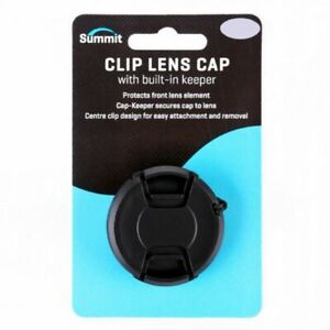 Summit 82mm Clip-On Lens Cap with Cap Keeper for all Lenses with 82mm Diameter