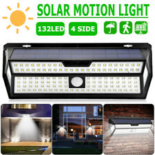 30-132 LED Solar PIR Motion Sensor Wall Lamp Waterproof Garden Security Light US