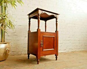 Antique Victorian Edwardian Mahogany Pot Cupboard Bedside Storage Cabinet