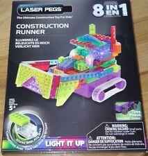 Construction Runner Laser Pegs Light up construction toy Brick Block 8 in 1