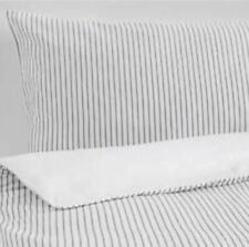 Ikea Rodnarv King size Duvet Cover & 4 Pillowcases - White & Grey striped