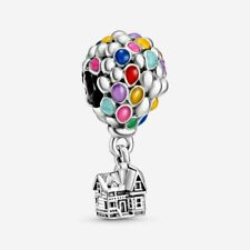 New 925 Sterling Silver Pandora Disney Up House & Balloons Charm