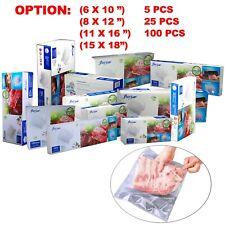 "Wholesale Lot bulk 6""x10"" 8""x12"" 11""x16"" 15""x18"" Food Vacuum Sealer Bags"
