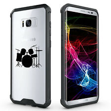 For Samsung Galaxy S7 Edge S8 + Clear Shockproof Bumper Case Cover Drum Set