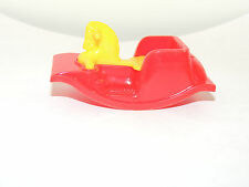 Acme Red and Yellow Rocking Horse Toy over 2 inches long (12384)
