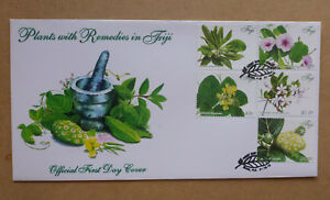 2015 FIJI HERBAL PLANTS 5 STAMPS FIRST DAY COVER FDC