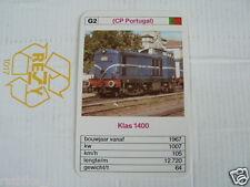 24 EK LOKS G2 CP PORTUGAL KLAS 1400 TRAIN TREIN KWARTET KAART,