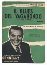Spartito IL BLUES DEL VAGABONDO Frankie Laine Travis 1956 Sheet music