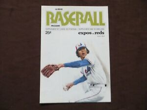 1976 Montreal Expos vs Reds Supplement Scorecard MLB Baseball Vol.8 No.2