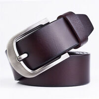 Men's Genuine Leather Dress Belt Waistband Casual Pin Buckle Waist Strap Belts