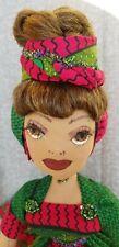 Chyvonne- Shady-ladies-handmade-dol l-green-pink- African wax print
