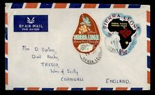 DR WHO SIERRA LEONE FREETOWN AIRMAIL TO ENGLAND DIE CUT  f55059