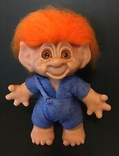 """Limited Edition Boy 9"""" Thomas Dam Troll Doll  - Orange Hair and Glass Eyes"""