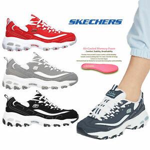 Skechers D'Lites Biggest Fan Trainers Womens Retro Chunky Platform Trainers Shoe