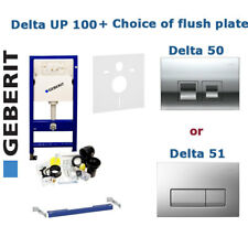 GEBERIT DUOFIX DELTA WC FRAME UP100 with DELTA 50 or DELTA 51 FLUSH PLATE SET