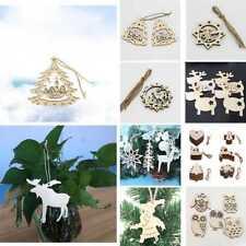 Weihnachten Holz Elch Baum hängen Anhänger Party Weihnachtsbaum Ornament  #22r