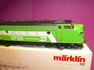 """*MÄRKLIN H0 4181: """"Burlington"""" F7 USA Diesellok (unmotorisiert)"""