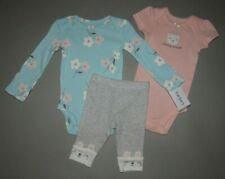Baby girl clothes, Preemie, Carter's Little Baby Basics 3 piece set/New Arrival!