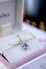 Authentic Pandora Spring Collection Forget Me Not, Purple & Clear CZ 791833ACZ