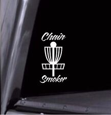 Chain Smoker Disc Golf Basket Vinyl Decal Car Window Sticker! Any Color! USA!