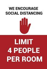 """SOCIAL DISTANCING STICKERS  12"""" x 18"""" Sign Business Decal"""