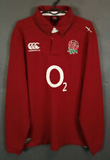 MEN'S LONG SLEEVE CANTERBURY RUGBY UNION ENGLAND 2012/2013 SHIRT JERSEY SIZE XL