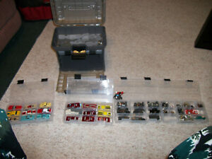 VINTAGE AURORA MODEL MOTORING HO SLOT CAR TRACK and Controllers and CARS!!!