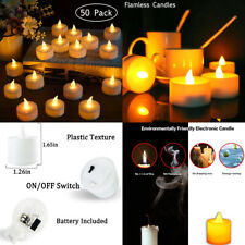 LED Tea Light Candles, 50 Pack Flameless Candle Lights Battery 50