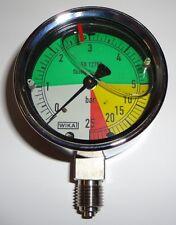 Manometer 63mm 0-5-25 bar Anschluß unten, flüssigdüngerfest  - für Feldspritze