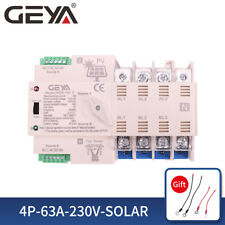 Pv Solar Automatic Transfer Switch 4P 63A 220V 230V Solar To Grid Dual Power
