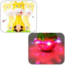 Cute Kid's Toy Light Music Projection Giraffe Tumbler Baby Early Education Toys