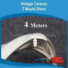 Caravan T MOULD RUBBER EDGING  ( 20mm White ) ( 4 MTRS )  Vintage BT152