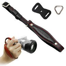HORUSBENNU HS-M3(Black/R) D-SLR RF Mirrorless Camera Leather Hand Strap Grip Set