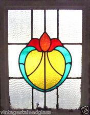 Antique Stained Glass Window Four color Fantastic Design Fancy Tulip (2453)