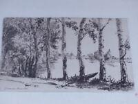 Felix BRACQUEMOND - LES TREMBLES  First Print 1884 Beau Tirage en brun
