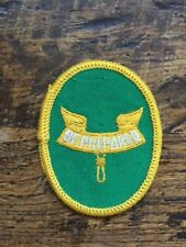 """Vtg Boy Scouts Of America Be Prepared Sew On Embroidered Patch BSA 3"""" Scouting"""