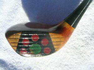 VINTAGE BURR KEY BILT PLAWOOD FANCY FACE BRASSIE WOOD Pretty golf clubs