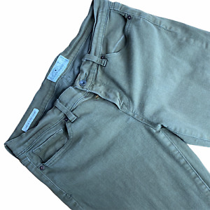Lucky Brand Jeans 10 30 Charlie Super Skinny Olive Green Stretch Ankle Zipper
