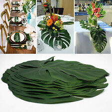 12pcs Artificial Tropical Palm Leaves Hawaiian Simulation Home Beach Decor Party