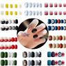 French Fake Nails Full Nail Cover 24Pcs Finger Press-On Nails Decoration 2g Glue