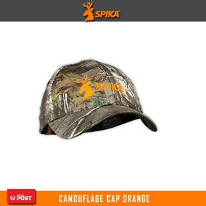 Spika Camo Hunting Cap Hat Headwear One Size Fit Most Orange Camo H-300