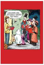 NobleWorks 12 'Halloween Carolers Boxed Christmas' Note Cards B2528Xsg