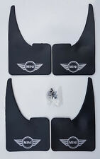 Universal MINI Wings Mudflaps + fittings FULL SET OF 4